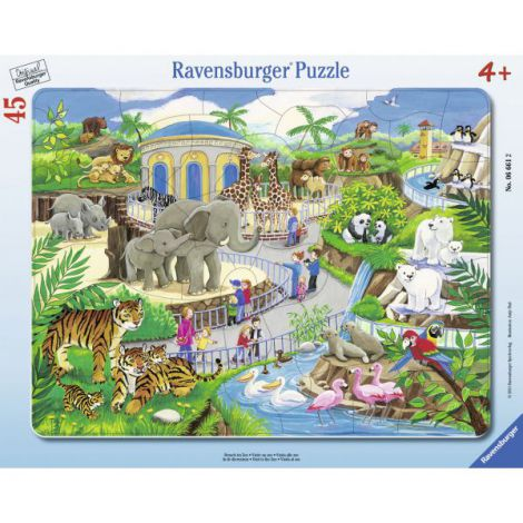 Puzzle vizita la zoo, 45 piese