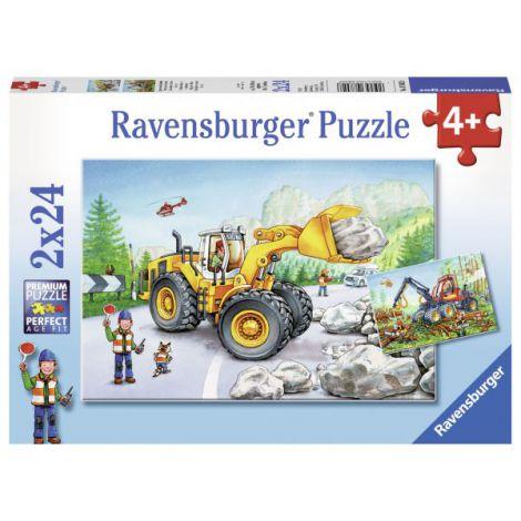 Puzzle utilaje la munca, 2x24 piese