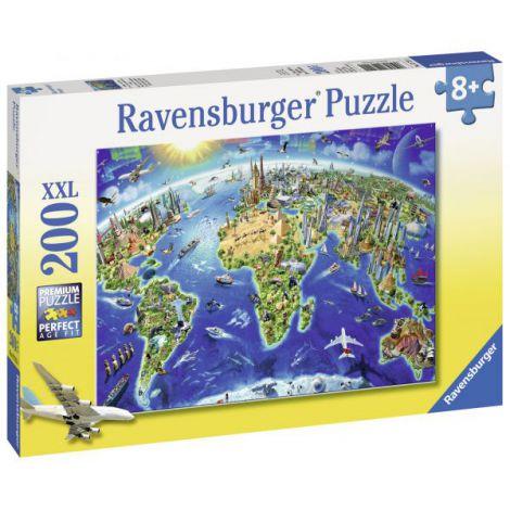 Puzzle Harta Lumii, 200 piese