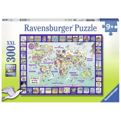Puzzle Privind lumea, 300 piese