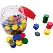 Set 120 de magneti colorati pentru tabla