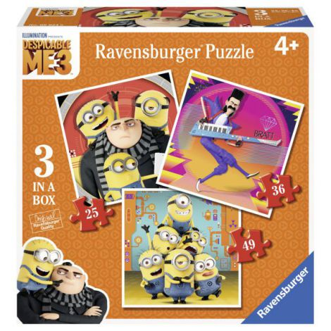 PUZZLE MINIONS 3 IN 1, 25/ 36/ 49 PIESE