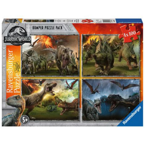 PUZZLE JURASSIC WORLD, 4x100 PIESE