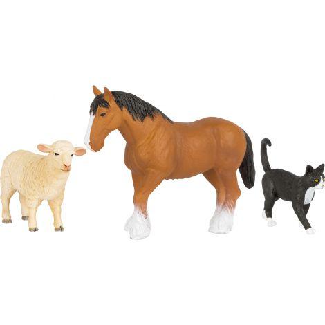 Set 3 figurine Animale de la Ferma