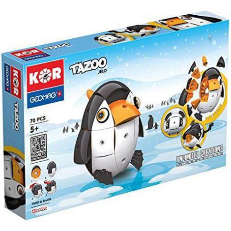 Set Constructie Magnetic Kor Tazoo Jelo, 70 piese