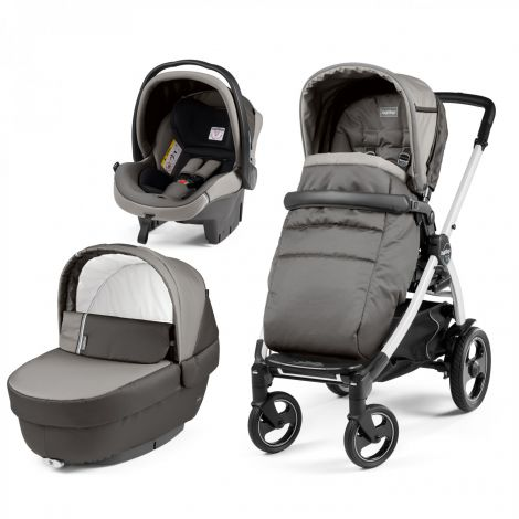 Carucior 3 In 1, Peg Perego, Book Plus 51 S, Titania White, Class