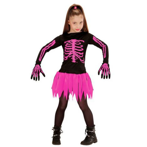 Costum schelet balerina roz