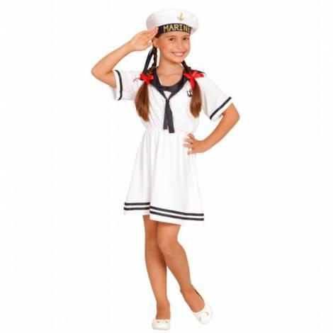 Costum marinarita fete alb