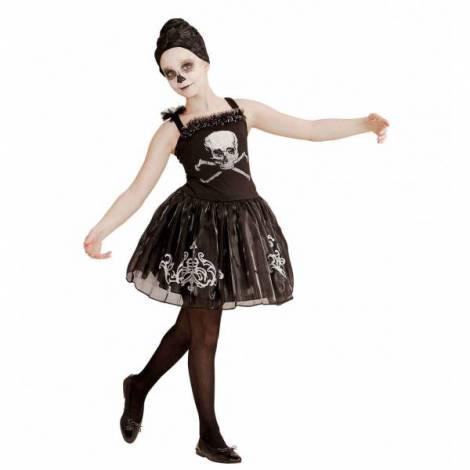 Costum Balerina Schelet Fetita imagine