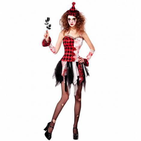Costum Arlechin Horror Halloween imagine