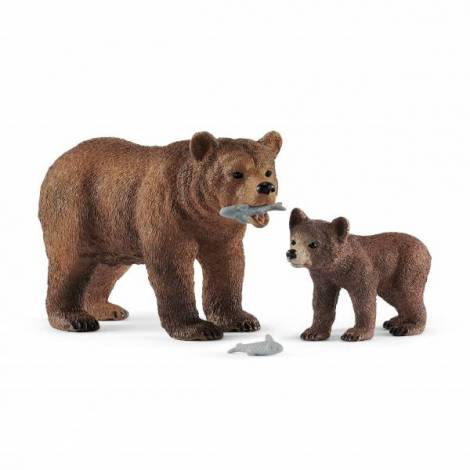 Schleich ursoaica grizzly cu pui