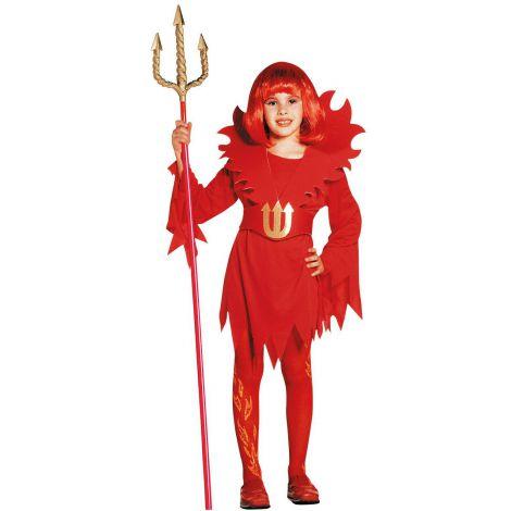 Costum rosu diavolita copii halloween