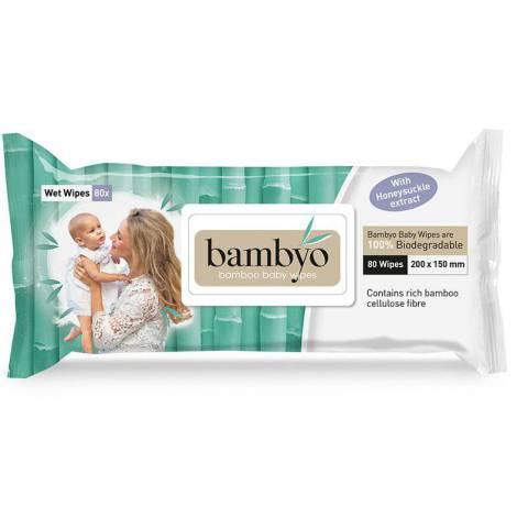 Servetele umede pentru bebelusi eco, 80 buc, 100% biodegradabile bambyo