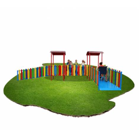 Ansamblu de joaca pentru copii cu dizabilitati – metal