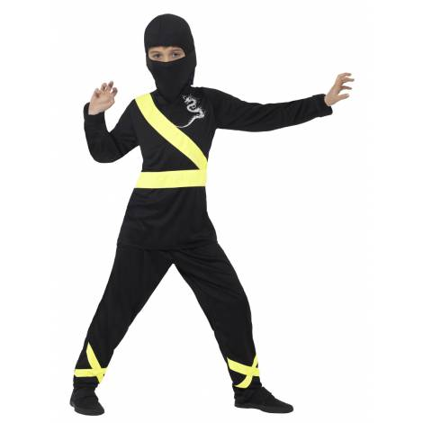 Costum ninja negru galben