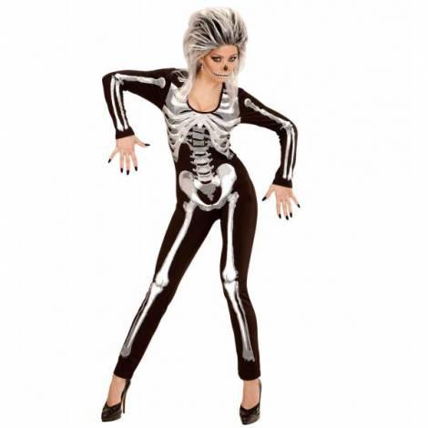 Costum schelet negru femei