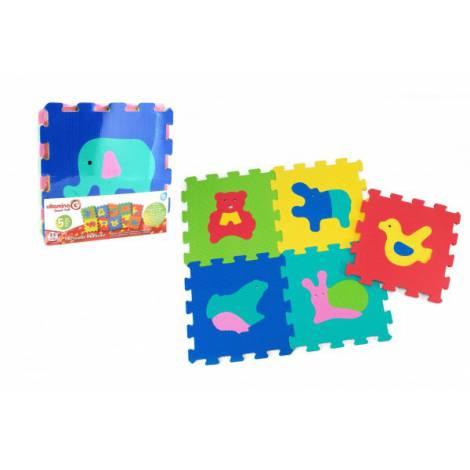 Puzzle burete pentru copii Globo Vitamina G Animale 5 bucati