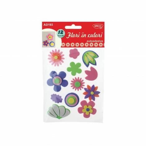 Flori in culori - spuma autoadeziva