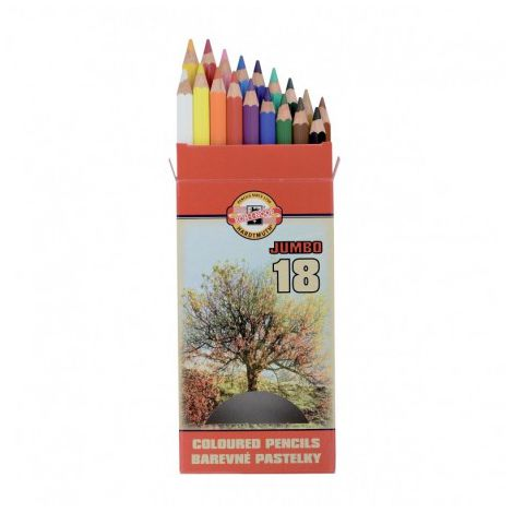 Set 18 creioane color Omega Jumbo