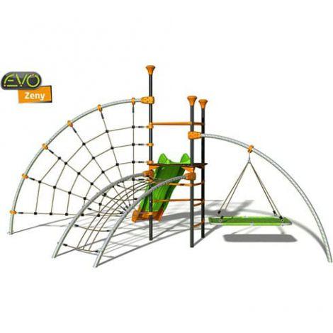 Complex de joaca exterior modular Zeny pentru 8 copii J-904001