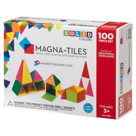 Set de constructie-Magna-Tiles Solid Colors set magnetic
