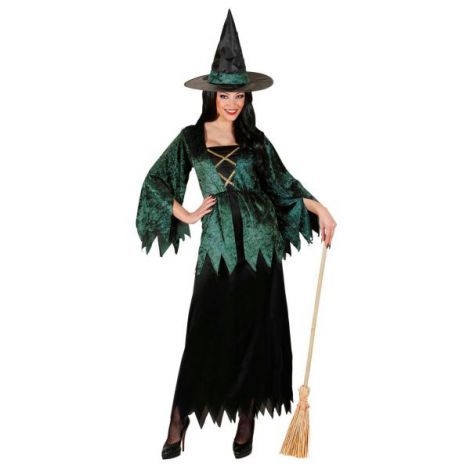 Costum vrajitoare verde