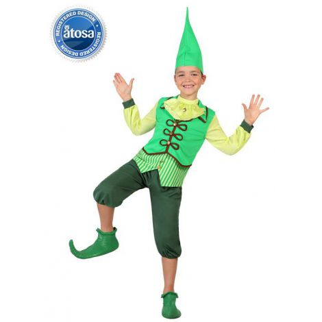Costum elf verde baieti - marimea 128 cm