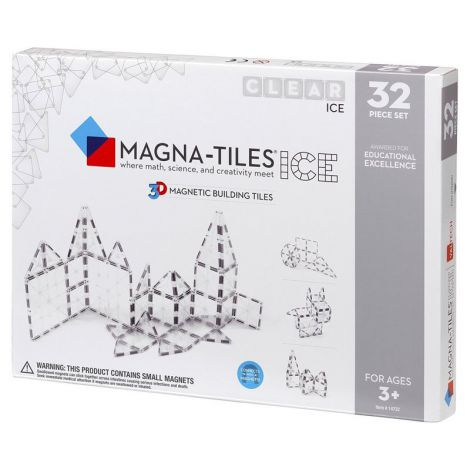 Set de constructie-Magna-Tiles ICE Transparent set magnetic