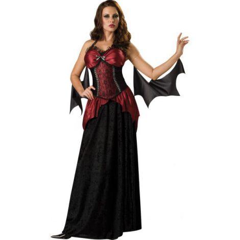 Costum vampirita gotic liliac