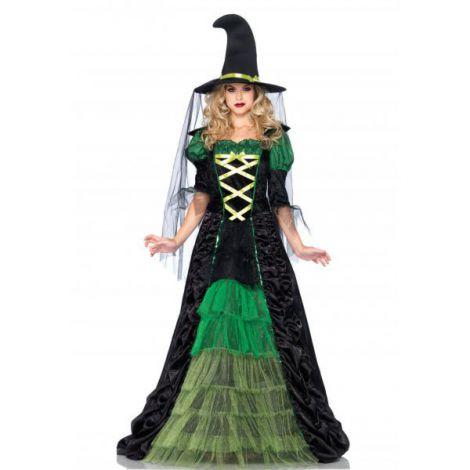 Costum vrajitoare verde epoca