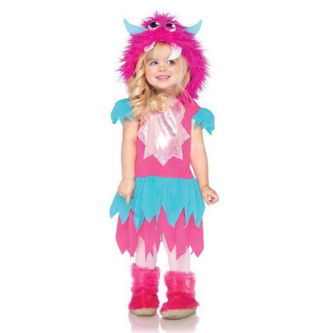 Costum monstrulet roz fetita - marimea 140 cm