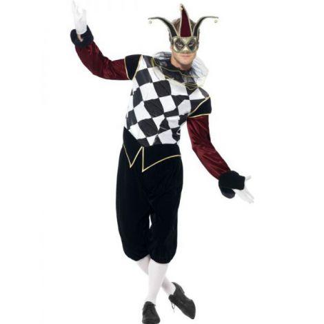 Costum arlechin venetian - marimea 128 cm