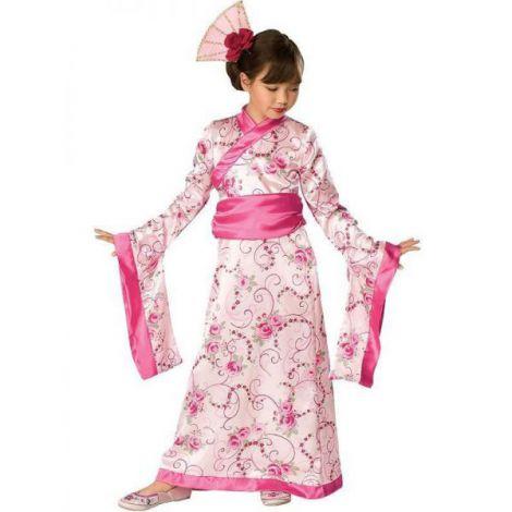 Costum geisha roz copii