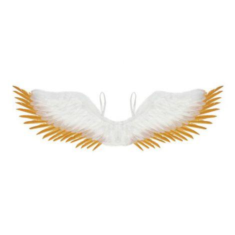 Aripi inger alb-aurii 100 cm - marimea 158 cm