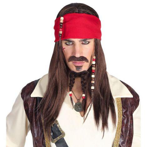 Peruca pirat caraibe autentica