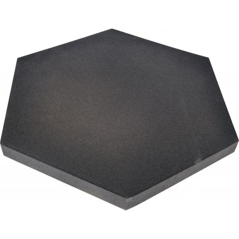 Panou hexagonal gri antracit 40 mm pentru reducerea zgomotului in clasa