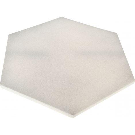 Panou hexagonal gri platina 20 mm pentru reducerea zgomotului in clasa