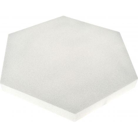 Panou hexagonal gri platina 40 mm pentru reducerea zgomotului in clasa