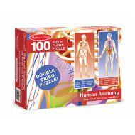 Melissa & Doug - Puzzle de podea Corpul uman