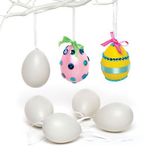 Set 12 oua din plastic de agatat - Baker Ross