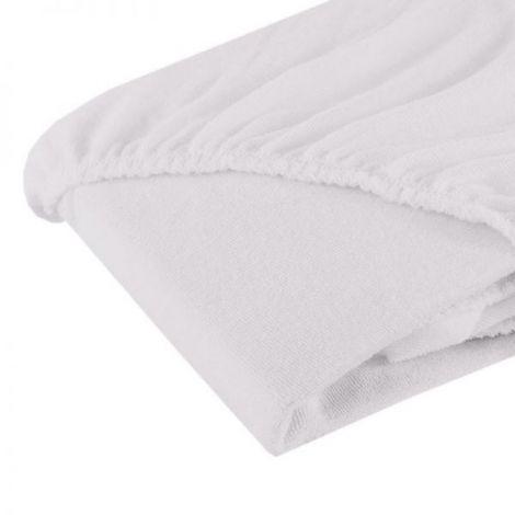 Cearsaf cu elastic din frotir alb 120/60 cm
