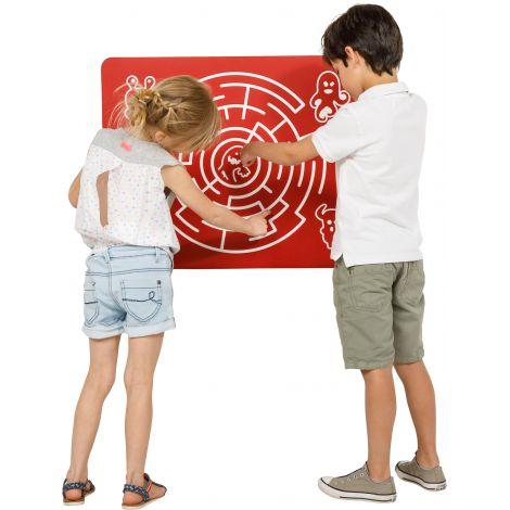 Panoul de joaca Labirint Rosu pentru spatiile de joaca KBT HDPE