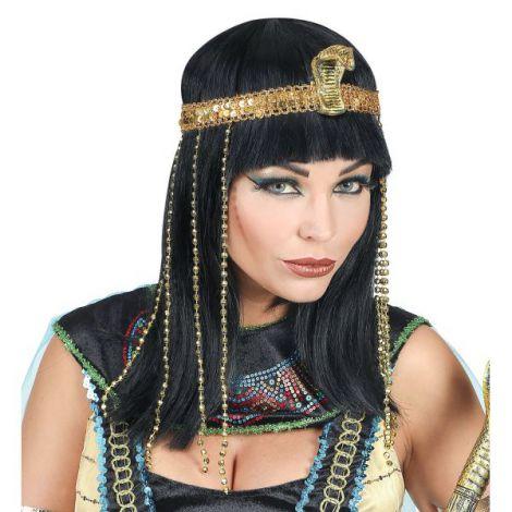 Peruca cleopatra cu bentita