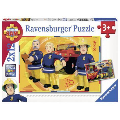 Puzzle Pompier Sam, 2x12 Piese imagine