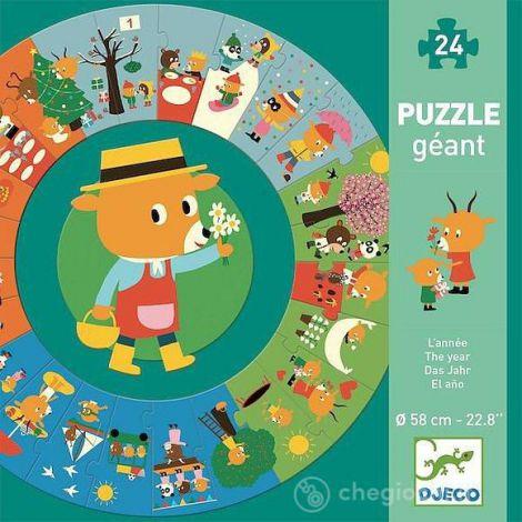 Puzzle Cicular Djeco, Anotimpurile imagine