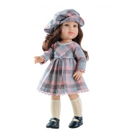 Papusa Ashley in rochie cu carouri, Paola Reina