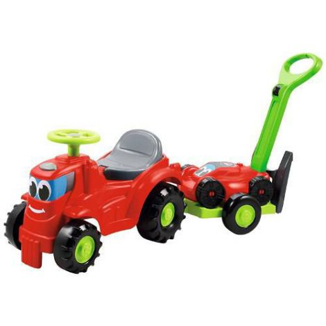 Mini Tractor cu Platforma si Masina de Tuns Iarba