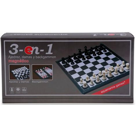 Magnetic chess checkers backgammon