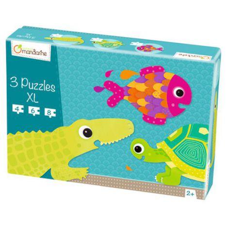3 Xl Puzzles, Scaled Creatures imagine