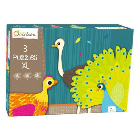 3 Xl Puzzles, Feathered Creatures imagine